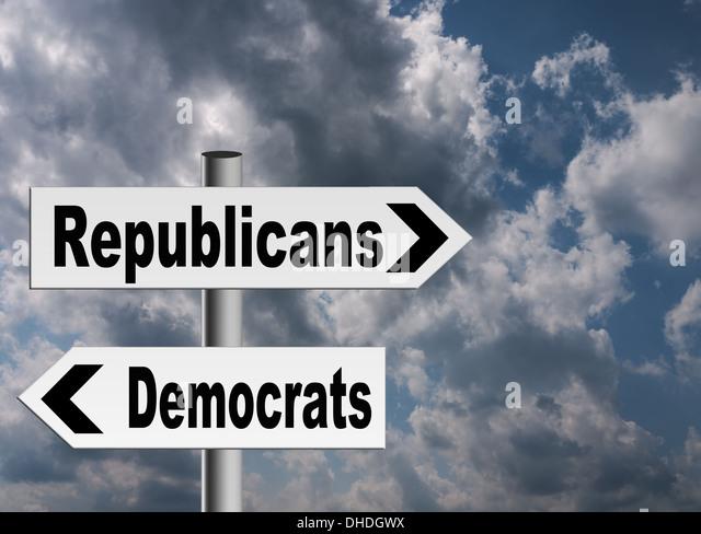 US politics concept - stormy sky - Stock Image