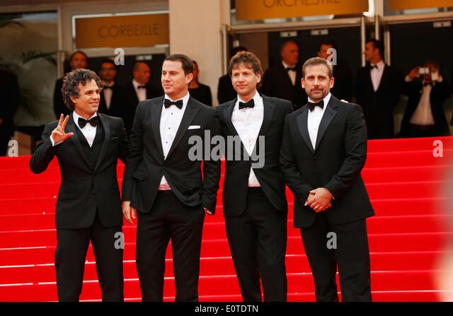 Cannes, France. 19th May, 2014. Mark Ruffalo, Channing Tatum, director Bennett Miller and Steve Carell.The Foxcatcher - Stock Image