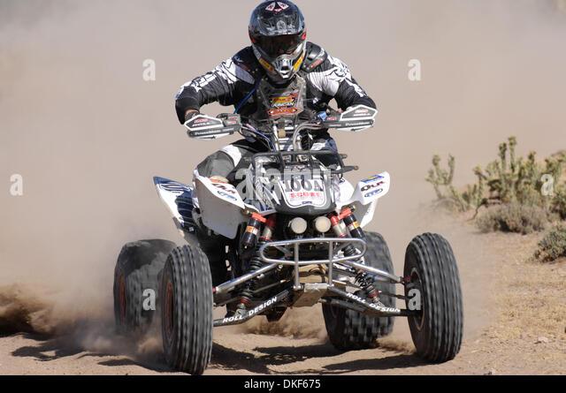 Jun 06, 2009 - Valle de la Trinidad, Baja Norte, Mexico - CRAIG CHRISTY, winner of Class 24 (under 251cc Pro ATV), - Stock Image