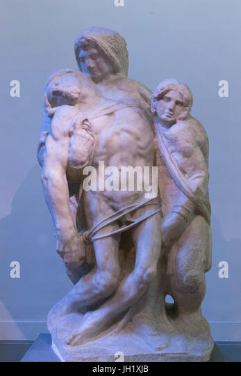 Pieta from Palestrina, ? by Michelangelo,  Accademia Gallery, Florence, Tuscany, Italy, Europe - Stock Image