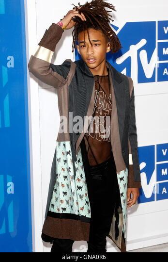 New York, Us. 29th Aug, 2016. Jaden Smith attends the MTV Video Music Awards, VMAs, at Madison Square Garden in - Stock-Bilder