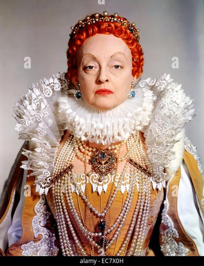 The Virgin Queen is a 1955 DeLuxe Color historical drama film in CinemaScope starring Bette Davis, - Stock Image