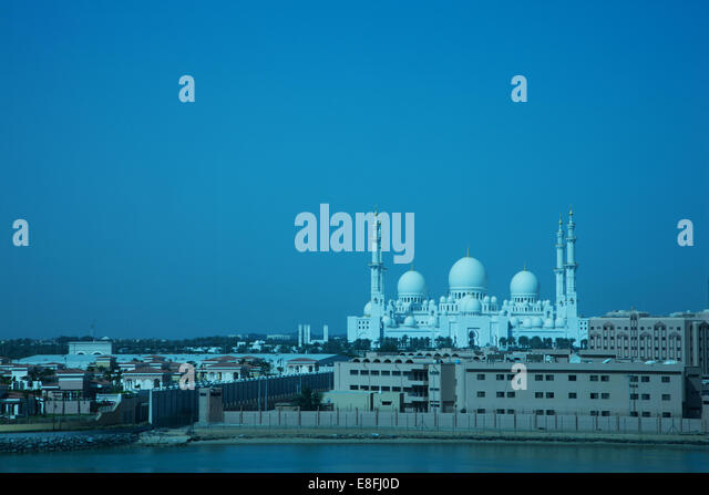 United Arab Emirates, Abu Dhab, Al Hosn, Sheikh Zayed Mosque - Stock Image