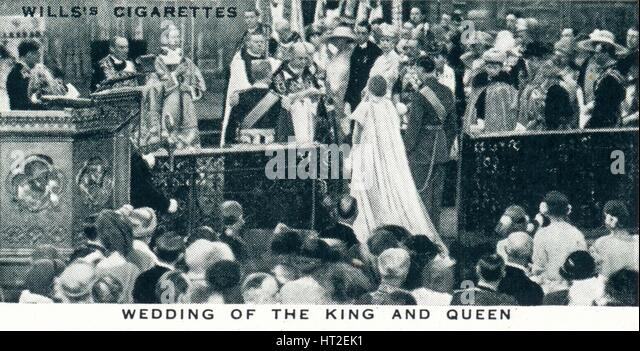 'Wedding of the King and Queen', 1923 (1937). Artist: Unknown. - Stock Image