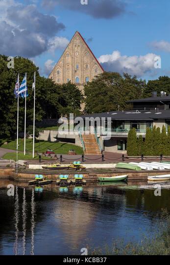 The Ruins of Pirita Convent near a part of Pirita Marina, Pirita is a district of Tallinn in Estonia. The convent - Stock Image
