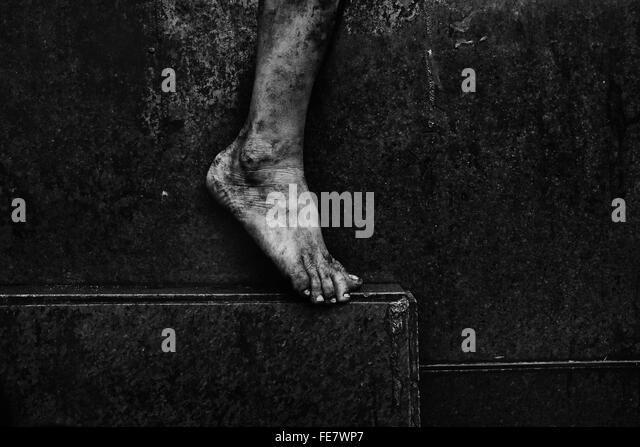 Low Section Of Barefoot - Stock Image