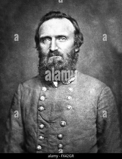 General 'Stonewall' Jackson, Confederate general during the American Civil War. General Thomas Jonathan - Stock Image