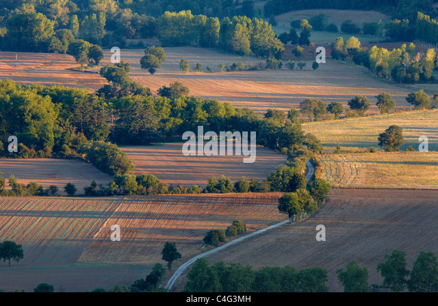 the rolling Lauragais countryside nr Dourne, Tarn, Midi Pyrenees, Languedoc, France - Stock Image