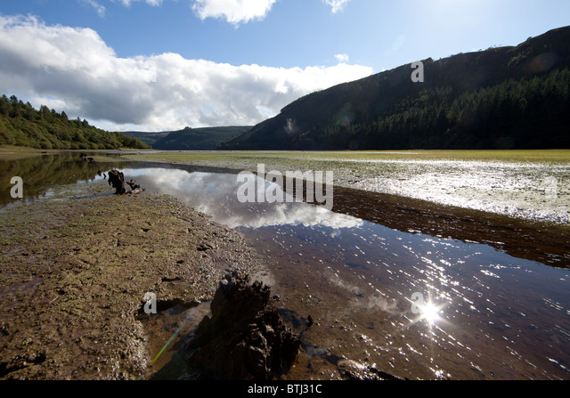 View of the upper reaches of Lake Vyrnwy in Wales - Stock Image