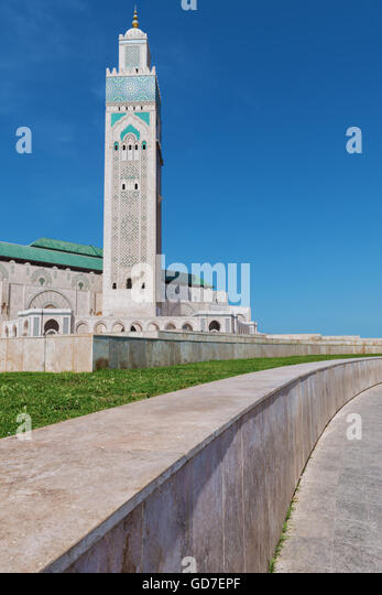 Great Mosque Hassan II in Casablanca, Morocco. - Stock Image