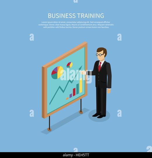 Training staff briefing presentation. Staff meeting, staffing and corporate business training, employee training, - Stock-Bilder