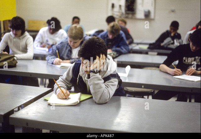 high school students taking test stock photos amp high