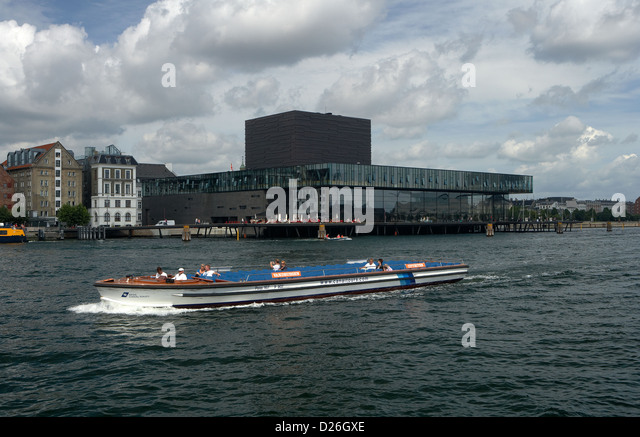 Copenhagen, Denmark, a boat trip along the King Lichen Playhouse - Stock Image