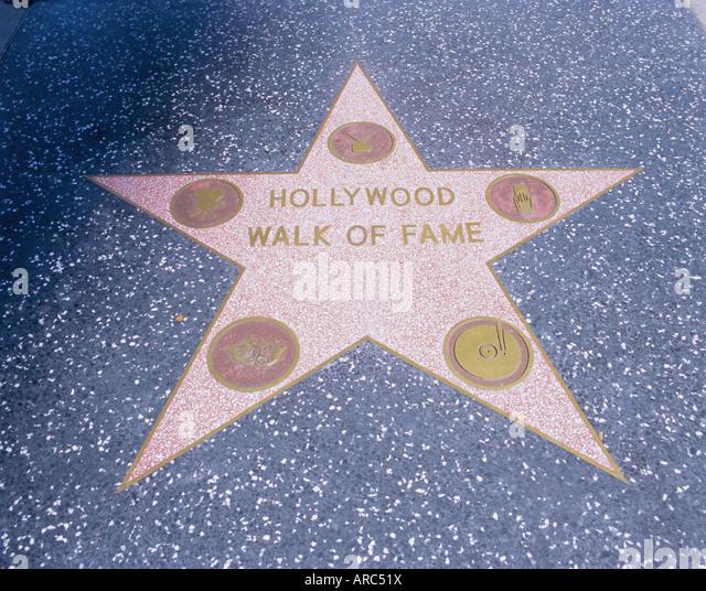 Walk of Fame, Hollywood Boulevard, Los Angeles, California, USA, North America - Stock Image