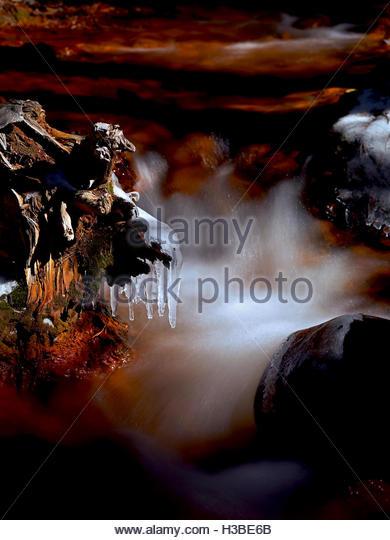 frozen waters - Stock Image