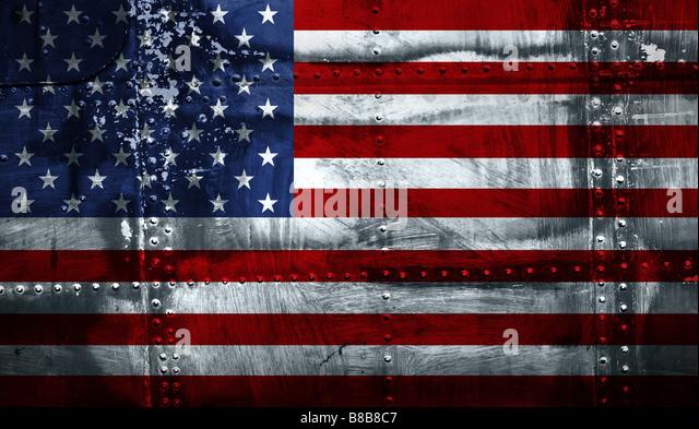 Grunge American flag - Stock-Bilder