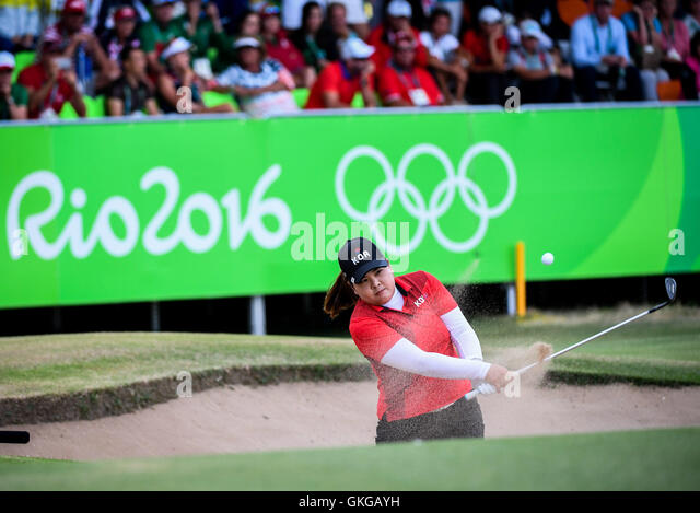 Rio De Janeiro, Brazil. 20th Aug, 2016. South Korea's Park Inbee competes during the women's round 4 of - Stock-Bilder