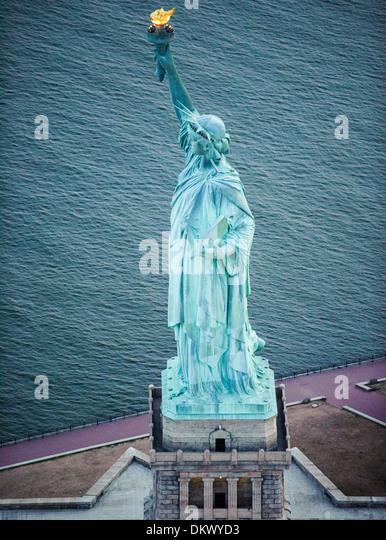 Statue of Liberty  Aerial photo - Stock-Bilder