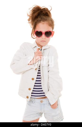 cool fashionable fashion kid with attitude - Stock-Bilder