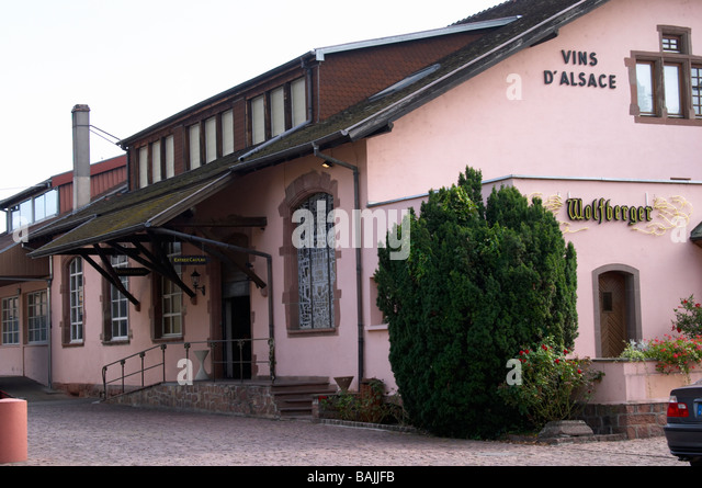 wolfberger winery eguisheim alsace france - Stock Image