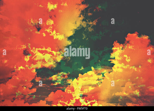 Modern abstract graphic design digital art  creative concept - Stock-Bilder