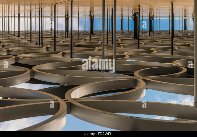 Abstract view of the Library of Birmingham, Birmingham, England - Stock Image