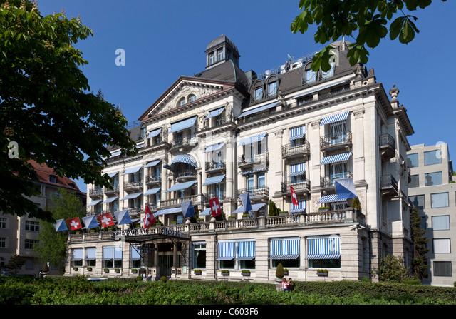 Switzerland Zurich, Hotel Eden au Lac, near Zurich lake promande - Stock Image