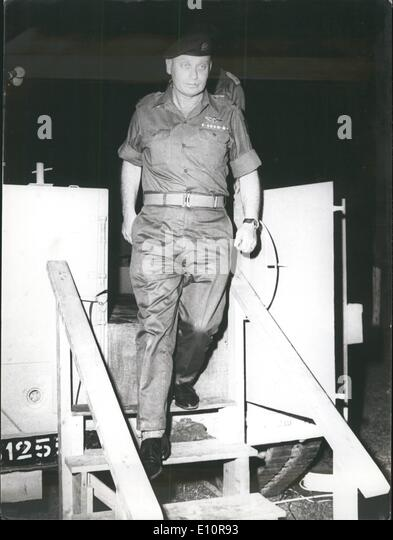 Oct. 10, 1973 - General Avraham Albert in Yom Kippur War. - Stock Image