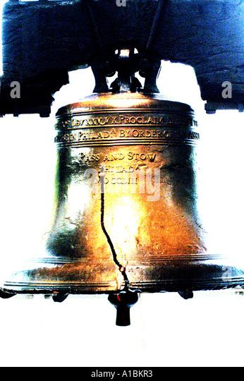 Philadelphia  liberty bell crack iconic american symbol - Stock Image