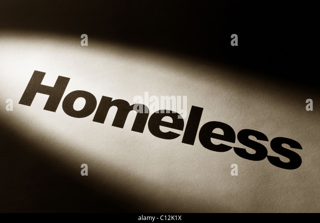 light and word of Homeless for background - Stock Image
