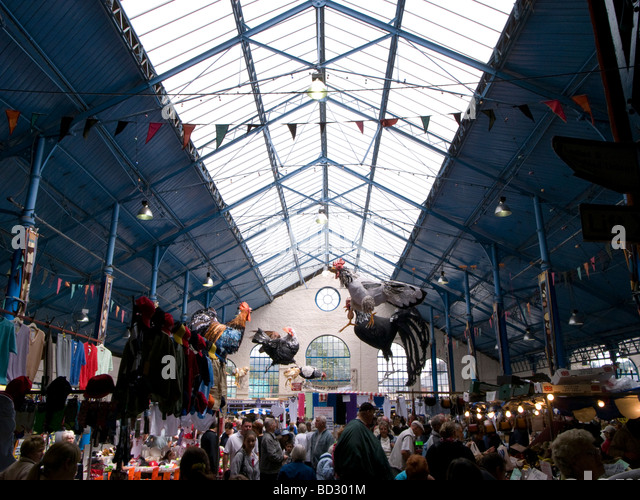 Abergavenny indoor covered market hall - Stock Image