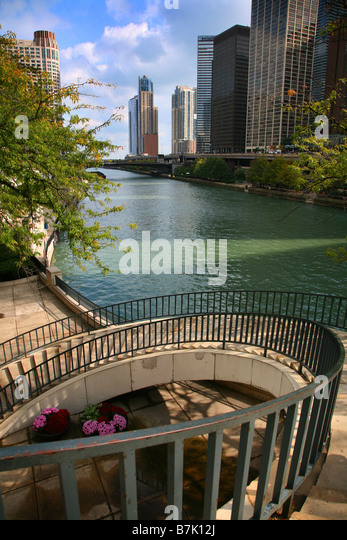 Chicago River - Stock Image