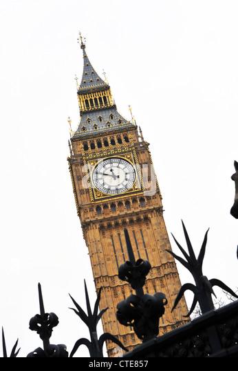 Big Ben representing politics and problems - Stock Image