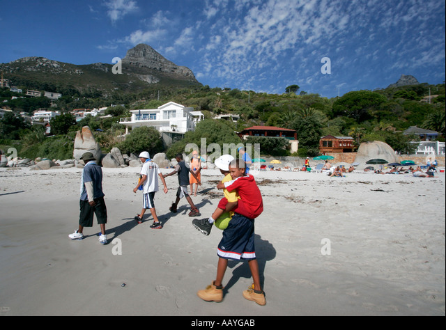 south africa cape town clifton beach kids - Stock Image