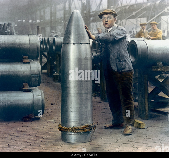Munitions Factory, England, 1918 - Stock Image