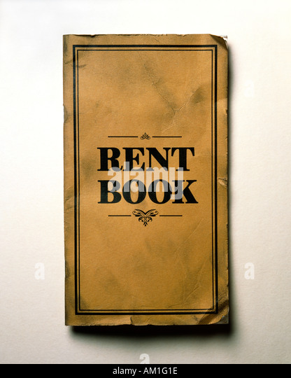 Old fashioned rent book - Stock-Bilder