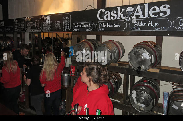Silverstone F1 British Grand Prix GP England - Petrol Head pub bar cask ales - Stock Image
