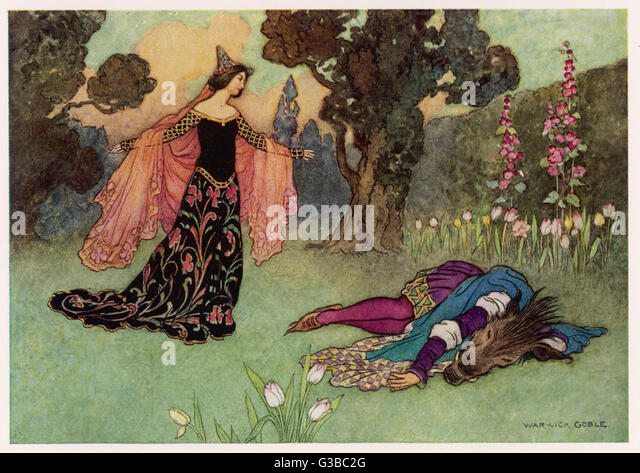 Titania & Bottom.         Date: Twentieth century - Stock Image