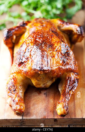 whole roasted chicken - Stock-Bilder