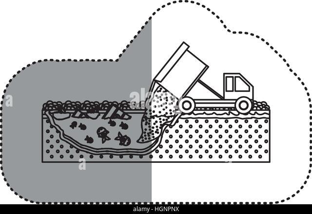 Hazardous waste truck stock photos hazardous waste truck for Household waste design