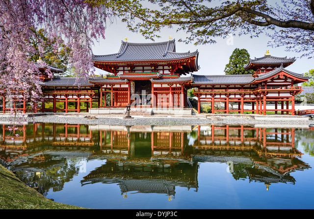 Kyoto, Japan at Byodo-in Temple. - Stock Image