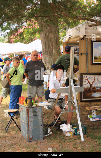 At Show, Pork, Peanut and Pine Festival, Chippokes Plantation State Park, Surry County, Virginia, USA - Stock Image