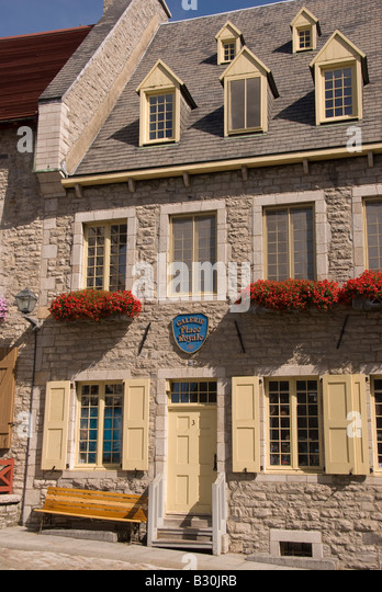 Quebec City Canada summer architecture art gallery old historic city - Stock Image