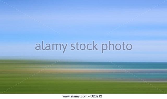 Defocused view of ocean - Stock Image