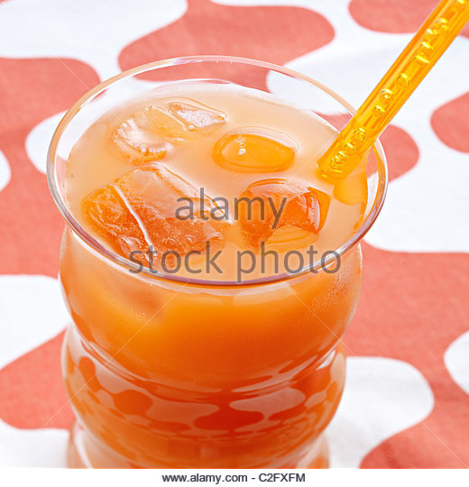 Vegetable juice carrot - Stock Image