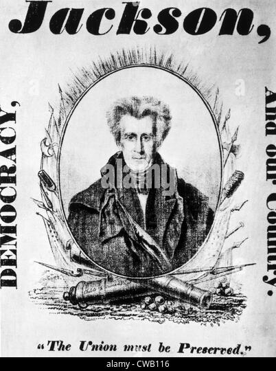 Andrew Jackson presidential campaign poster, 1832 - Stock Image
