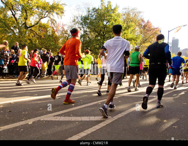 New York, USA. 3rd November 2013. New York Marathon 2013. Marathon Runners © Frank Rocco/Alamy Live News - Stock Image