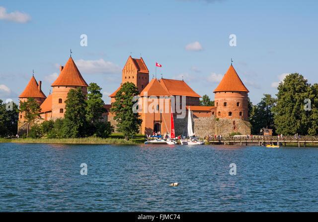 geography / travel, Lithuania, Trakai, Trakai Castle,Lietuva, Baltics, Baltic area, Baltic states, Baltic countries, - Stock-Bilder