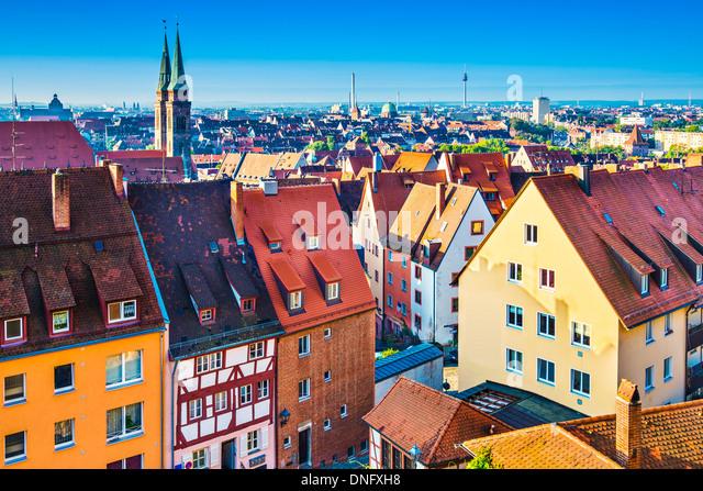 Skyline of historic Nuremberg, Germany - Stock-Bilder