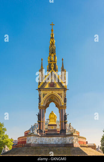 London architecture, detail of the rear of the victorian Albert Memorial sited next to the Royal Albert Hall in - Stock Image